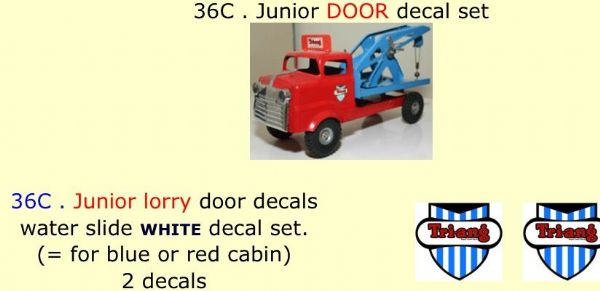 36C . Tri-ang Junior DOOR decal set